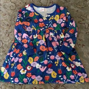 Girl's floral dress - Hanna Andersson - size 4